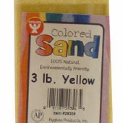 COLORED SAND 3 LB. HYGLOSS IN PLASTIC BOTTLE YELLOW