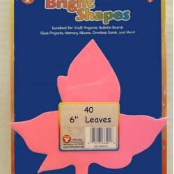 BRIGHT SHAPES LEAVES 60# ASSORTED COLORS 40 COUNT 5.5""