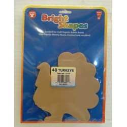 BRIGHT SHAPES TURKEY CUT OUT 60#  ACID FREE 40 ct