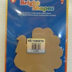 BRIGHT SHAPES TURKEY CUT OUT 60#  40 ct