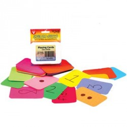 "PLAYING CARDS BLANK 2.5"" X 3.5"" ASSORTED BRIGHT COLORS ROUNDED 100 CT"