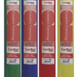 """Con-Tact® Brand SELF ADHESIVE VINYL 18"""" x 75 ft Fire Engine Red"""