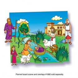 FELT& FLANNEL BOARD MATERIALS BABY MOSES  17 pcs.