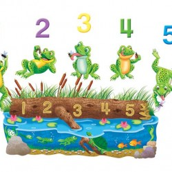 FELT& FLANNEL BOARD MATERIALS FIVE SPECKLED FROGS 11pcs.