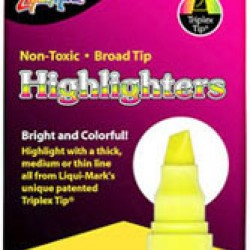 HIGHLIGHTERS CHISEL TIP LIQUIMARK 12 ct Yellow