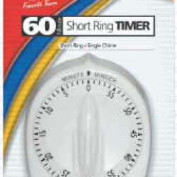 TIMER CLASSIC WIND-UP LONG RING WHITE by LUX # CP2428-59