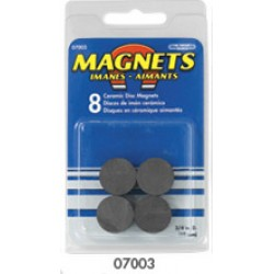 "MAGNET CERAMIC DISC 3/4"" DIA.   8ct"