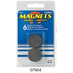 "MAGNET CERAMIC DISCS 1"" DIAMETER  6ct."