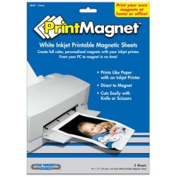 "PRINT MAGNET  8 1/2"" X 11""  FOR INK JET PRINTERS 3 PK"