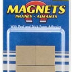 "MAGNET HIGH ENERGY 3/4"" X 3/16"" SQ. W/ FOAM ADHESIVE 6 ct"
