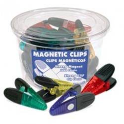 MAGNETIC CLIPS LARGE PLASTIC  POWERFUL