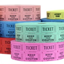 TICKETS DOUBLE ROLL 2000 ct ASSORTED COLORS DARK