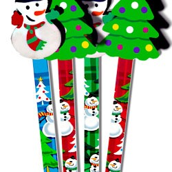 PENCIL FUN MUSGRAVE COMBO WRITERS SNOWMAN & TREE