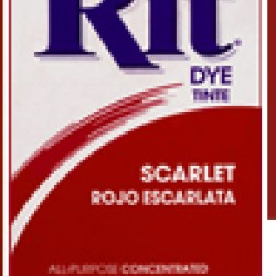 DYE RIT POWDER 1-1/8 oz. SCARLET