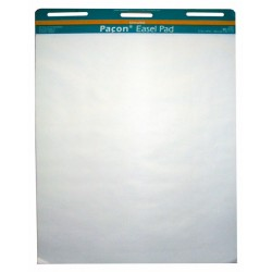 "EASEL PAD PLAIN HOLE PUNCHED 50ct  27"" X 34"" Pacon"