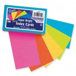 "INDEX CARDS 3""X5"" RULED SUPER BRIGHT  75 ct PACON"