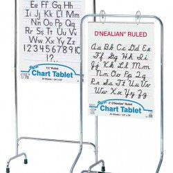 "CHART STAND CHROME NON ADJUSTABLE 28"" X 50"""