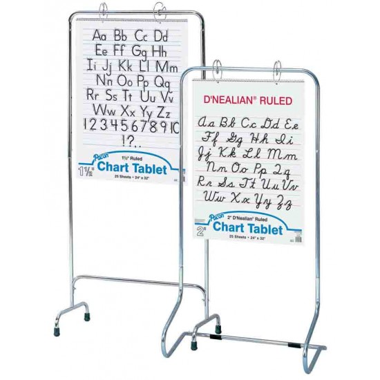 """CHART STAND CHROME NON ADJUSTABLE 28"""" X 50"""" from Pacon"""