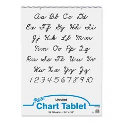 """CHART TABLET SPIRAL  UNRULED   24"""" X 32""""  25 ct."""