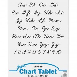 "CHART TABLET SPIRAL  UNRULED   24"" X 32""  25 ct."