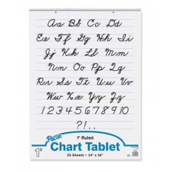 """CHART TABLET SPIRAL  1"""" RULING  24"""" X 32""""  25 ct"""
