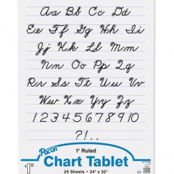 "CHART TABLET SPIRAL  1"" RULING  24"" X 32""  25 ct"