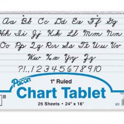 "CHART TABLET SPIRAL  1"" RULING  24"" X 16""  25 ct."