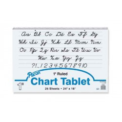"CHART TABLET SPIRAL 1"" RULING 24"" X 16"" 25 ct. 24/case from Pacon"