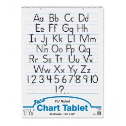 "CHART TABLET SPIRAL  1 1/2"" RULING  24"" X 32""  25 ct."