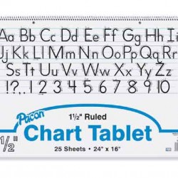 "CHART TABLET SPIRAL  1.5"" RULING 24"" X 16""  25 ct"
