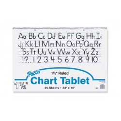 """CHART TABLET SPIRAL  1.5"""" RULING 24"""" X 16""""  25 ct"""