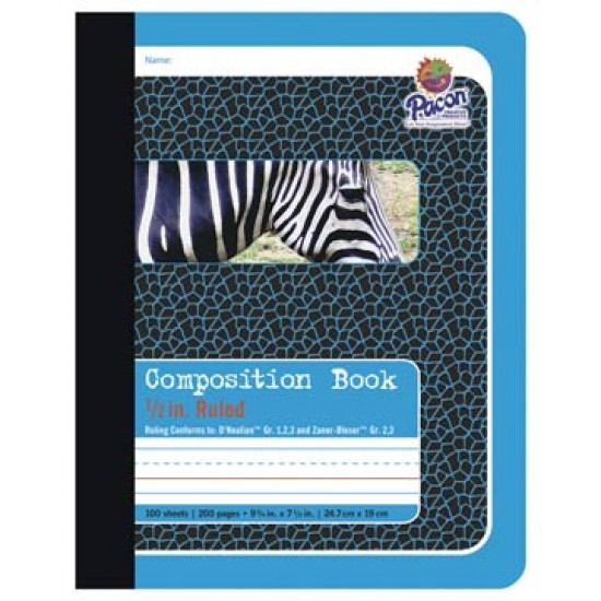 """COMPOSITION BOOK PRIMARY RULED 1/2""""  9 3/4 X 7 1/2-- PACON"""