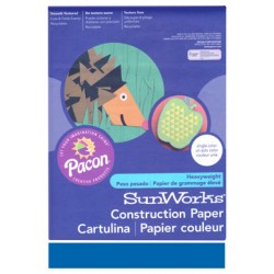 "Construction Paper Bright Blue 9"" x 12"""