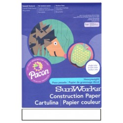 "CONSTRUCTION PAPER BRIGHT WHITE 9"" X 12"""