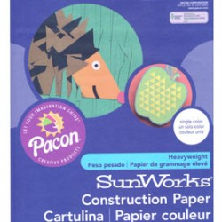 "CONSTRUCTION PAPER 65 lb. 9"" X 12"" 50 ct. DARK BROWN"