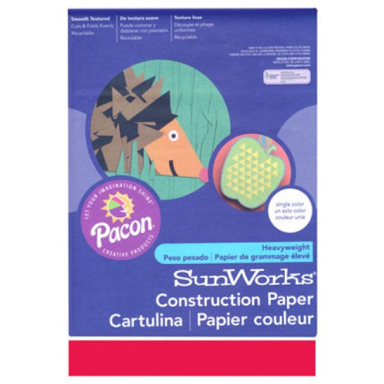 """Construction Paper Holiday Red 9"""" x 12"""""""