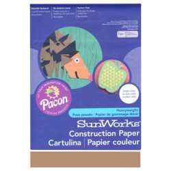 "CONSTRUCTION PAPER LIGHT BROWN 9"" X 12"""