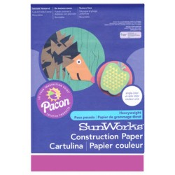 "CONSTRUCTION PAPER 65 lb. 9"" X 12"" 50 ct. MAGENTA"