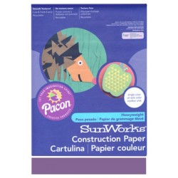 "CONSTRUCTION PAPER 65 lb. 9"" X 12"" 50 ct. VIOLET"