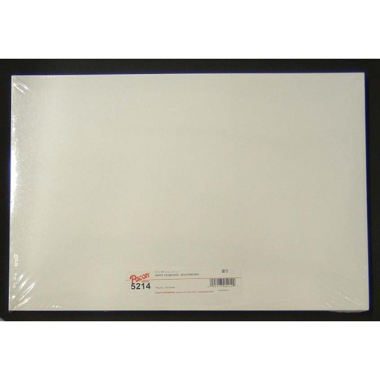 """TAGBOARD  WHITE HEAVY WEIGHT 150 lb   100ct 12"""" X 18"""""""