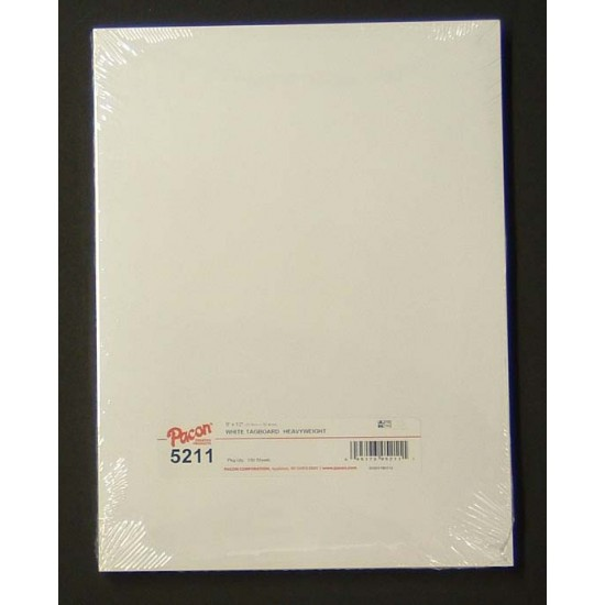 "TAGBOARD  WHITE HEAVY WEIGHT 150 lb   100ct 9"" X 12"""