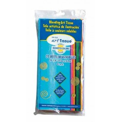 "TISSUE PAPER  SPECTRA BLEEDING 20"" X 30""  20 ct ASSORTED"