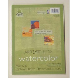 WATERCOLOR PAPER IN PACKS 50 ct  9 X 12 90#  PACON