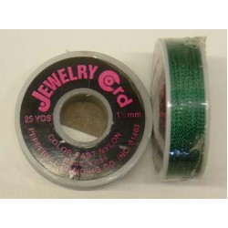 JEWELRY CORD PEPPERELL  25 YDS  36 SPOOL KELLY GREEN