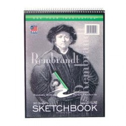 "SKETCH BOOK  TOP SPIRAL 9"" X 12"" 30 ct      CASE #52112"