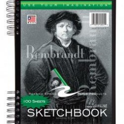 "SKETCH BOOK TRI-POCKET COVER 11"" X 8.5""  100 ct"