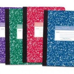 "COMPOSITION BOOK MARBLE COVER COLORS 9 3/4"" X 7 1/2"" 100 ct. mead"