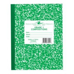 "COMPOSITION BOOK GRADE 1 RULED 24 ct GREEN  9.75"" X 7.75"""
