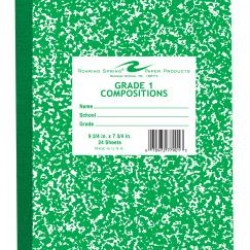 "COMPOSITION BOOKS GRADE 1 RULED GREEN    9.75"" X 7.75""  24 ct"
