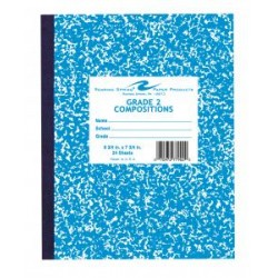 "COMPOSITION BOOK GRADE 2 RULED 24 ct BLUE     9.75"" X 7.75"""